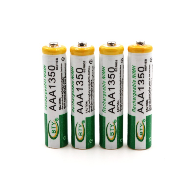 4/8/12PCS New AAA1350 <font><b>1.2</b></font> <font><b>V</b></font> <font><b>Ni</b></font>-MH 1800 mAh Rechargeable Battery for Protable Games <font><b>CD</b></font> Players Car toys Flashlight image
