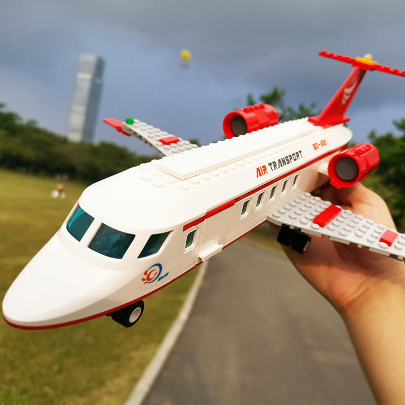 Compatible With LegoED City Airplane Building Blocks Sets Bricks Air Transport Figures Model Series Technic Toys For Children
