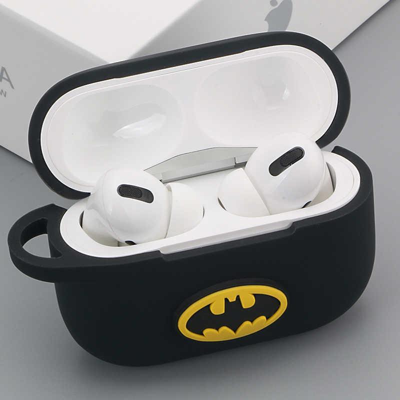 Cartoon Marvel silikonowe etui na słuchawki Bluetooth dla apple airpods Pro ultra-cienka śliczna ładowarka pokrywa ochronna Funda Coque