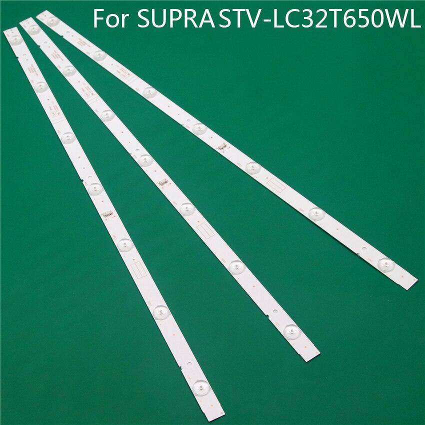 NEW LED TV Illumination For SUPRA STV-LC32T650WL V1P12 V1R08 LED Bar Backlight Strips Line Ruler 5800-W32001-3P00 0P00 Ver00.00