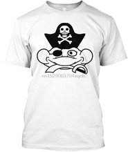 Men T Shirt head face captain pirate saber sword eye Women tshirt(China)