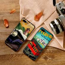 Retro train travel poster For Samsung NOTE 8 9 M10 M20 M30 S7 Edge S8 S9 S10 PLUS TPU Soft Phone Back Cover Case Shell(China)