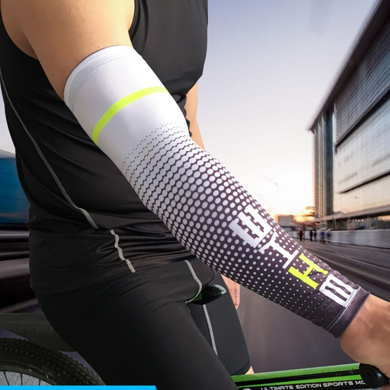 Quick Dry Running Arm Sleeves Cycling Bicycle UV Sun Protection Cuff Cover Basketball Elbow Pad Fitness Arm Warmers