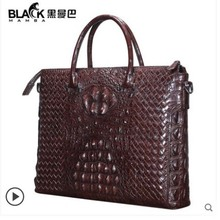 heimanba New crocodile leather briefcase for business man Thai woven hand made whole