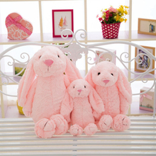 Cute Lop Eared Rabbit Plush Toys Long-eared Doll Baby Comfort White Elfe on The Shelf Stitch Anime Hot