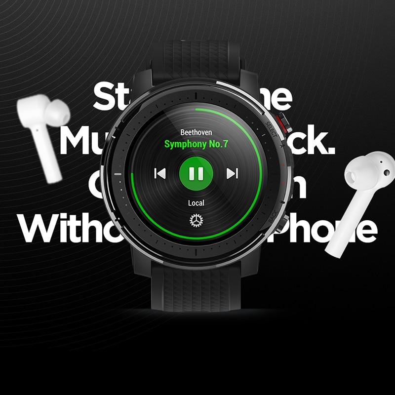 Смарт-часы Amazfit Stratos 3, глобальная версия, GPS 5 АТМ, Bluetooth, музыка, двойной режим, 14 дней работы, Смарт-часы для Android 2019-5
