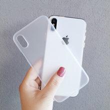 Funda mate ultrafina para iPhone 7 8 Plus,funda Simples transparente para iPhone 6 6s X Xr Xs Max,carcasa trasera parágrafo telefono
