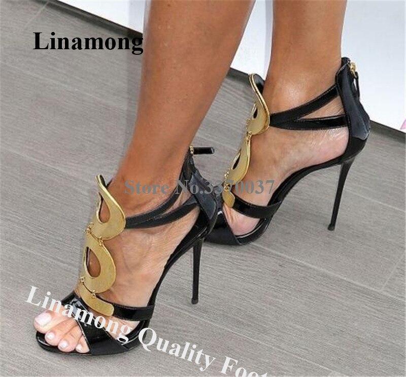 black patent heel shoes