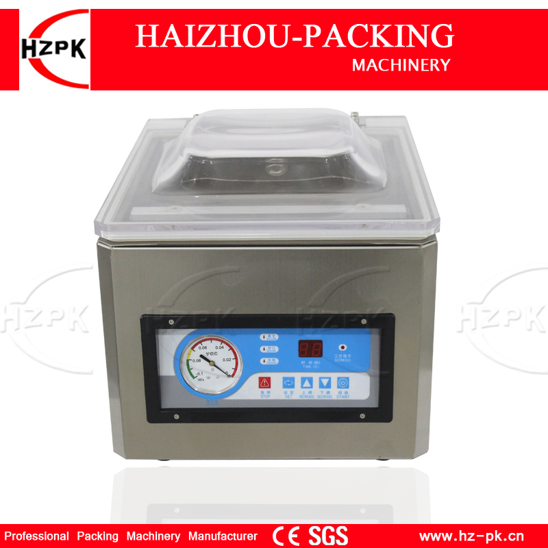 HZPK Vacuum Sealer Dry And Wet Dual-use Vacuum Packing Machine Use In The Kitchen Commercial Vacuum Machine Small For Food Store