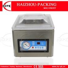 HZPK komora ze stali nierdzewnej nakrętka do kawy plastikowe torby uszczelniające do kuchni do jedzenia automatyczny komercyjny mały próżniowy maszyna pakująca DZ260