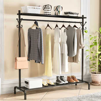 New Clothes Rack High Quality Hangers Coat Rack Save Space Clothing Rack Drying Hanger Coat Racks Living Room Storage Furniture - DISCOUNT ITEM  13 OFF Furniture