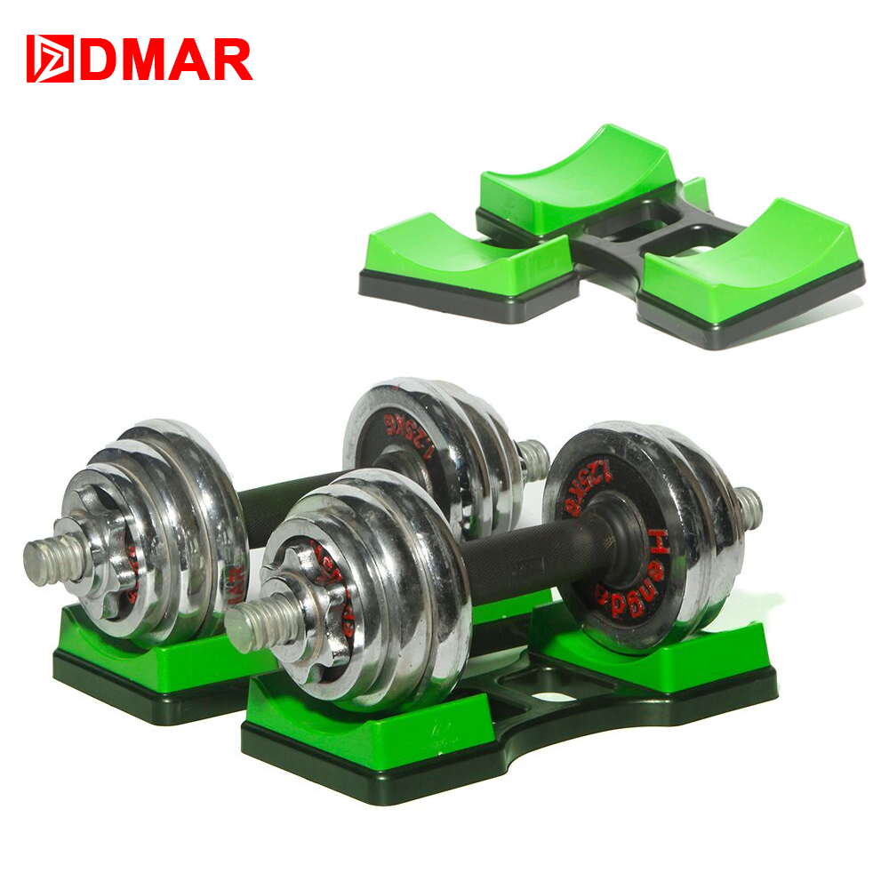 DMAR 1 Pair Dumbbells Rack Bracket Holder For Household Fitness Home Small Women Men Crossfit Body Building Exercise Equipment