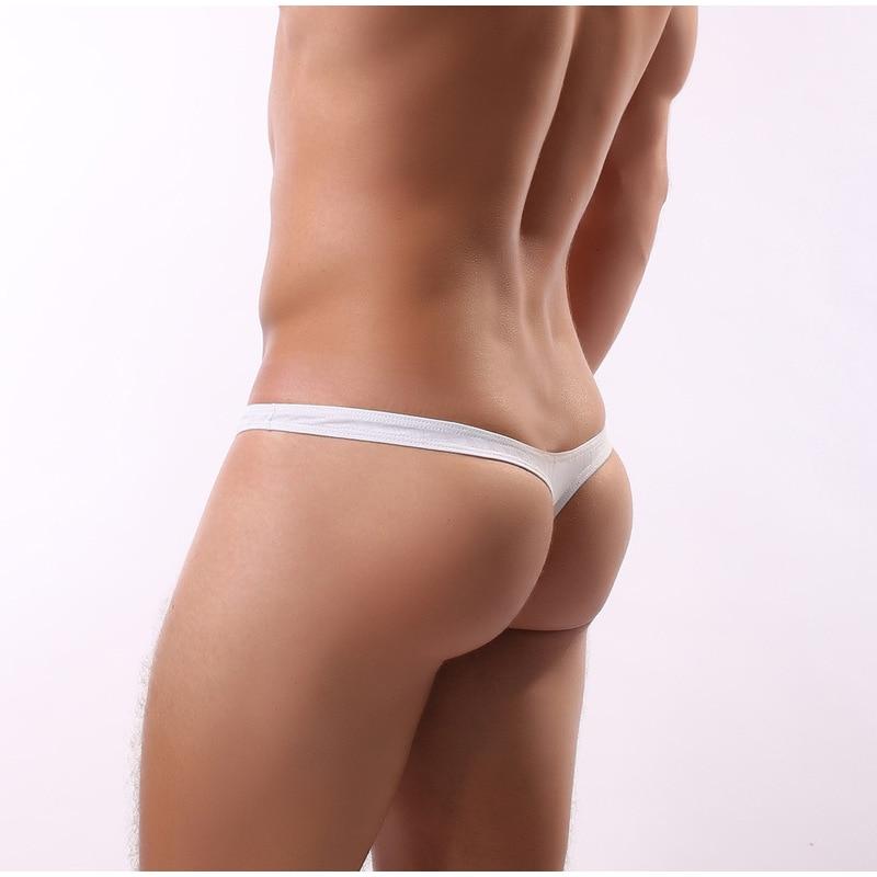 Mens Underwear Thong Stripe U Convex Breathable Low Waist Panties Man Pouch Men Gay Thong G Strings Intimo Uomo Bikini