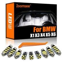 Zoomsee superior Canbus lámpara LED de coche Interior Domo bombilla de mapa Kit para BMW X1 E84 X3 E83 F25 X4 F26 X5 E53 X70 X6 E71 E72