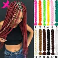 Xnaira Afro Ombre Synthetische Flechten Haar 165 gr/teile Lange Jumbo Geflecht Groß Afrikanischen Flechten Haar Häkeln Haar Extensions