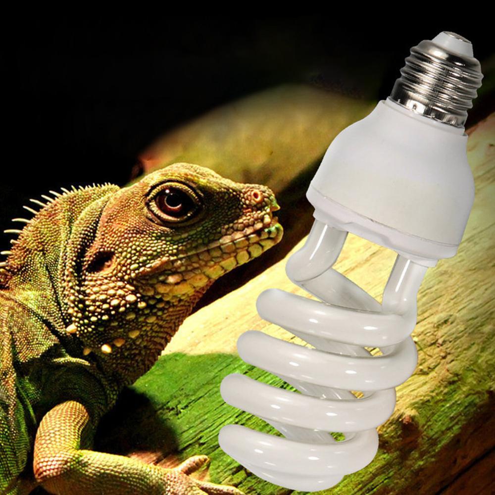 E27 рептилий ультрафиолетовый светильник лампочка 5,0 10,0 ультрафиолетовых лучей спектров 13 Вт 26 Вт ПЭТ свет для рептилии светильник светящаяся лампа Дневной светильник лампочка Для черепаха рыбы амфибии