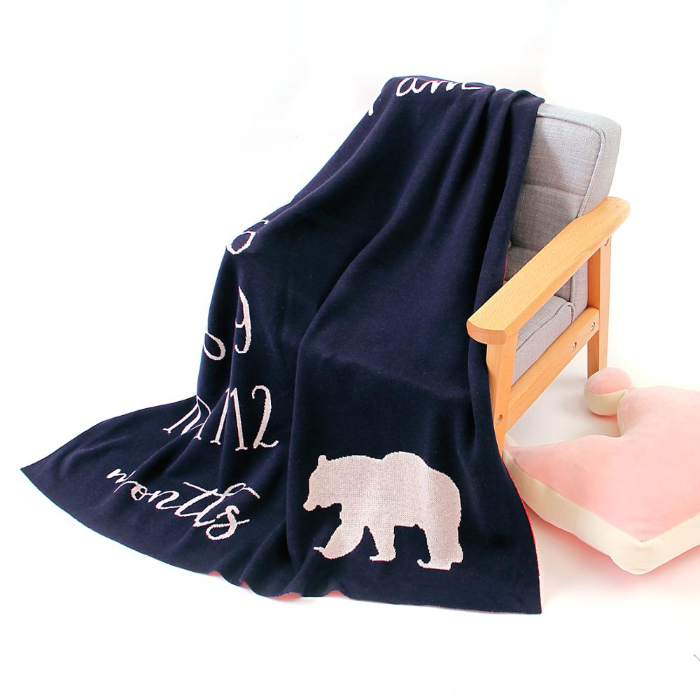 Baby Blankets Knitted Cotton Autumn Newborn Bebes Swaddle Muslin Wrap Blanket 100*80CM Infant Stroller Sleepsack Children Quilts