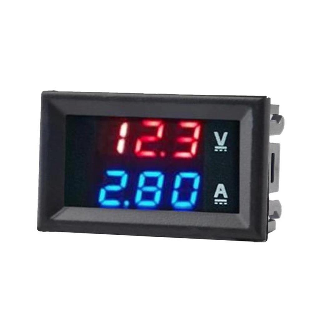 Цифровой мини-Вольтметр Амперметр постоянного тока 100 в 10 А вольтметр измеритель тока тестер синий + красный двойной светодиодный дисплей