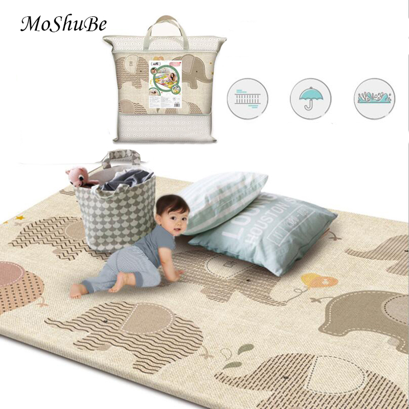 Non-slip Kids Rug New Baby Play Mat Infant Toys Elephant Animals Puzzle Children's Mat Thickened Room Soft Floor Carpet