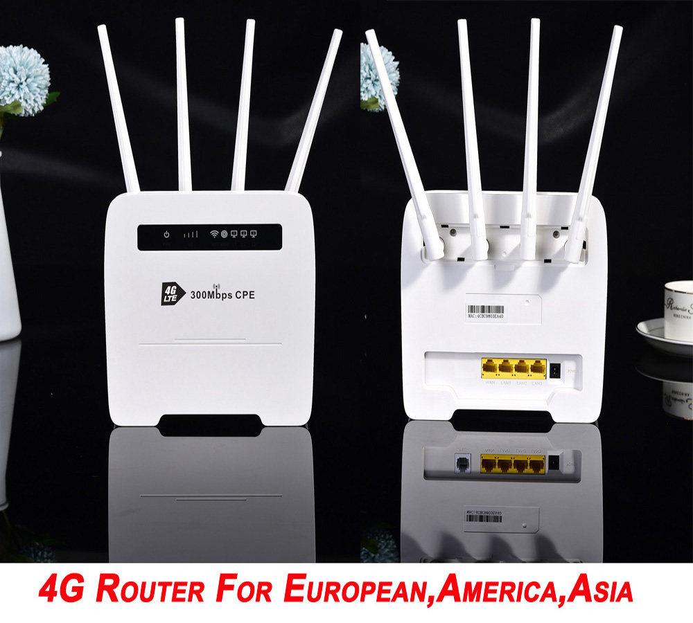 R102 Unlocked 300Mbps Modem 4g Wifi Sim Card Mobile Wireless Router With LANPort Support Hotspot Broadband Dongle 4g Wifi Router