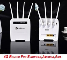 Unlocked 300Mbps modem 4g wifi sim card Mobile Wireless Router with LAN Port Support Hotspot Broadband Dongle 4g Wifi Router