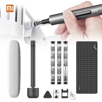Original Xiaomi Wowstick1F Mini Electric Screwdriver Rechargeable Cordless Power Screw Driver Kit with LED Light Lithium Battery цена 2017