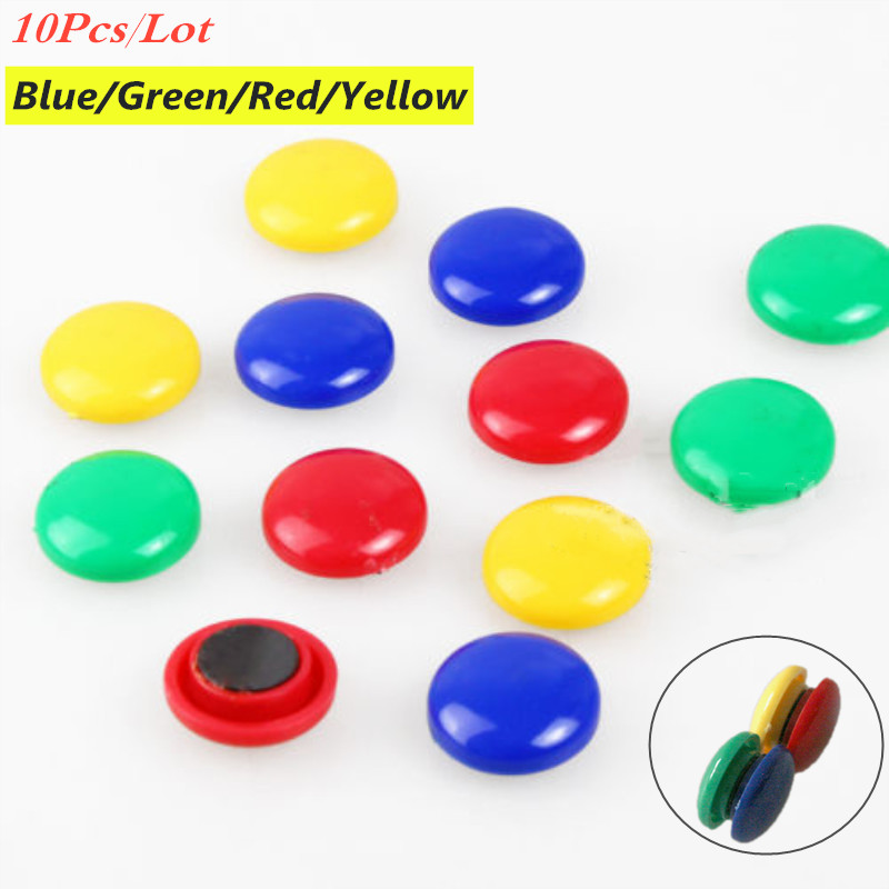 10Pcs Colorful Whiteboard Magnetic Suction Button Fridge Magnets Round Refrigerator Magnetic Sticker for School Home Decoration