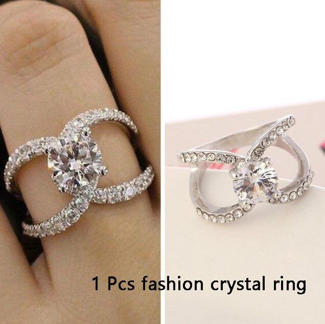 Новинка, кольца из розового золота для женщин, полностью Кристальное обручальное кольцо из Стразы для дам, Женские аксессуары, кольца на палец, ювелирное изделие, подарок - Цвет основного камня: 14