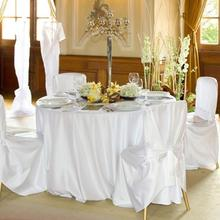 Round Satin Tablecloths Banquet Table Covers Dining Table Linens For Hotel Wedding Birthday Home Christmas party Decoration
