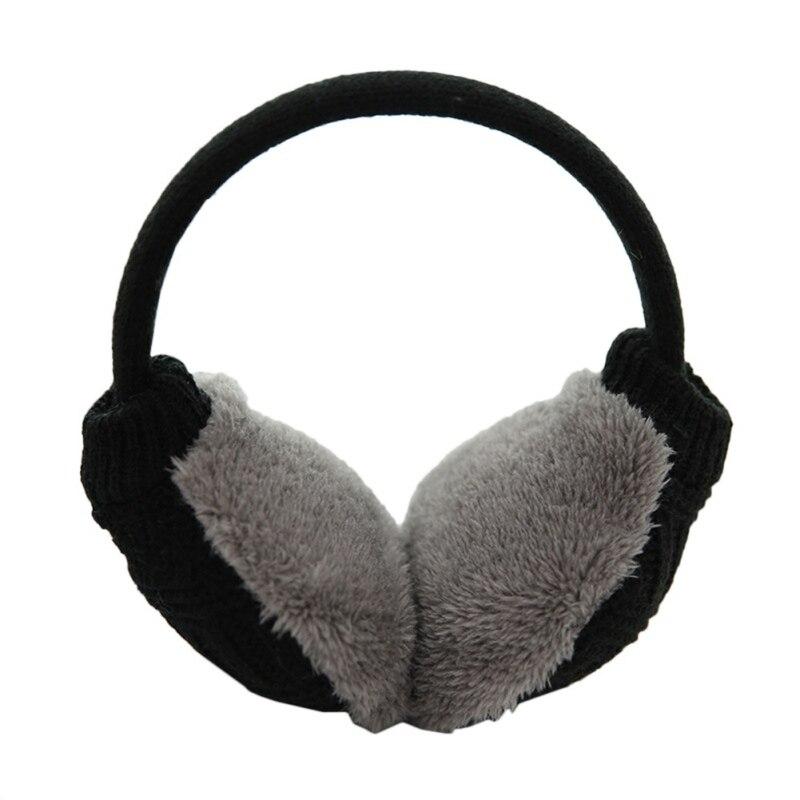 Зимние Наушники унисекс, плотные зимние теплые вязаные наушники для мужчин Wo men s Earflap Earmuffs, съемные плюшевые наушники - Цвет: B