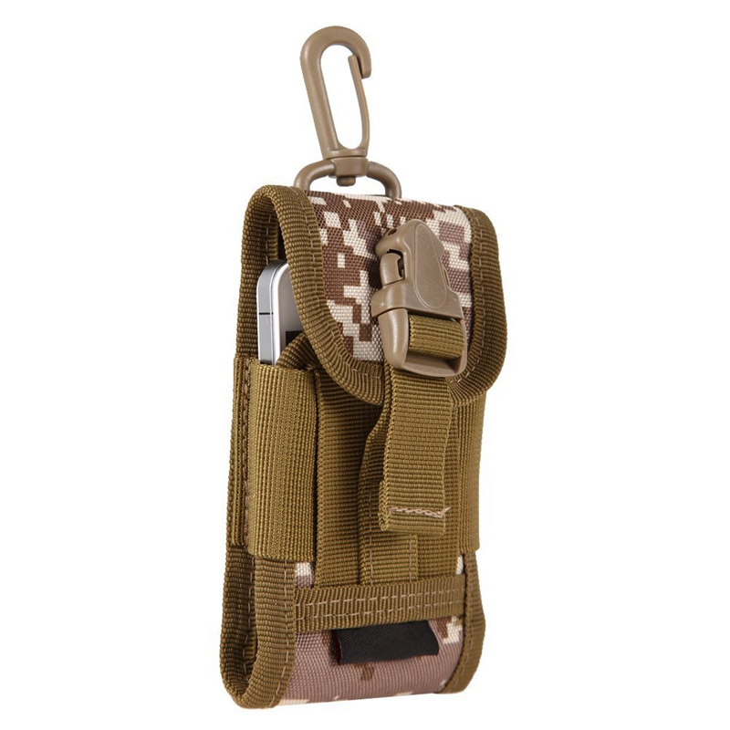 Mens Outdoor Hunt Multifunctional Accessories Bag Sundries Bags Key Cell Phone Waist Bag Pouch Case (Digital Desert Camouflage)