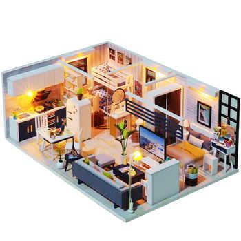 Handmade Doll House Furniture Miniatura Diy Doll Houses Miniature Dollhouse Wooden Toys For Children Grownups Birthday Gift - DISCOUNT ITEM  34% OFF All Category