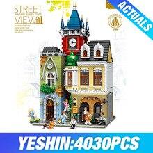 Город МОС модель уличного здания кирпичный Старый город паб набор строительных блоков Кирпичи рождественские подарки игрушки для детей