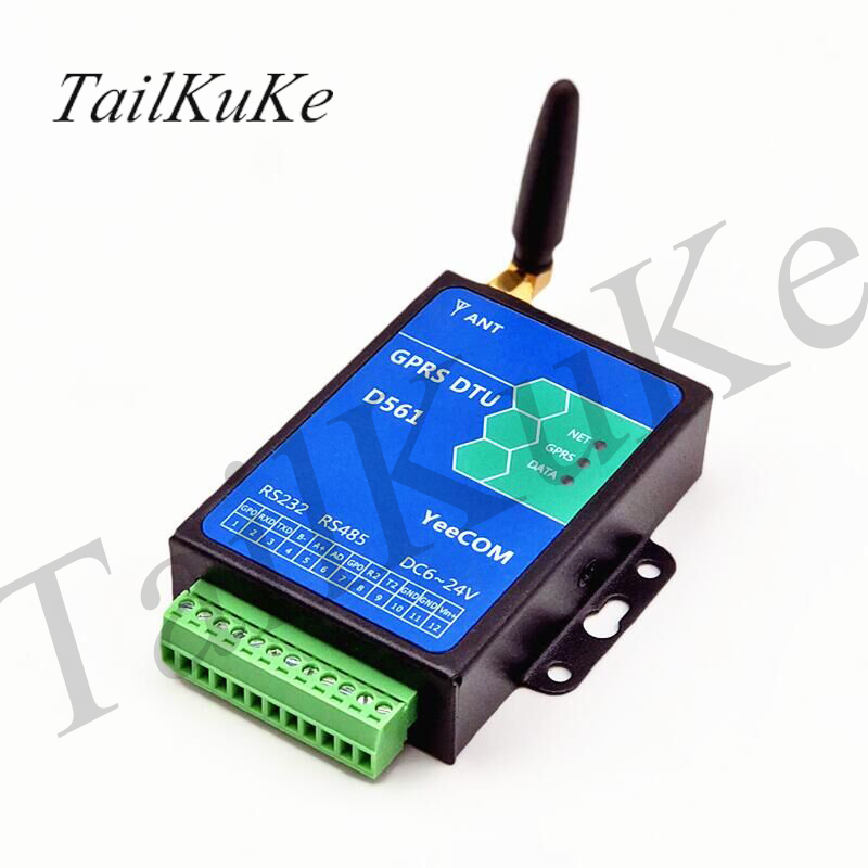 Industrial Grade GPRS DTU, 485+232+TTL Serial Port Module Transparent Transmission / HTTP / MQTT Cloud Platform / Polling