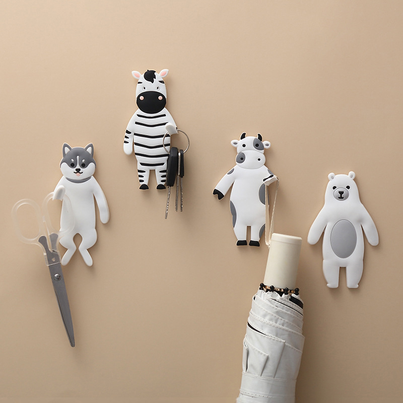 Lovely Animal Family Hook Cat Dog Bear Bird Fridge Whiteboard Sticker Refrigerator Gifts can Washed Home Decoration wall hook