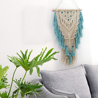 Tapestry Dyeing Boho Decor Indian Macrame Wall Art Handmade Cotton Wall Hanging Tapestry With Lace Fabrics Bohemian Wedding