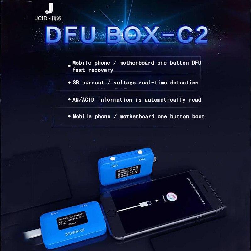 JC DFU BOX-C2 4 in 1 Phone Restore Programmer One Button Boot Control line SN ECID Reader USB Current Voltage Detector JC  C2