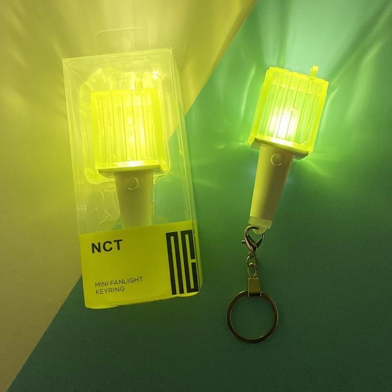 New NCT Kpop Mini Fanlight Keyring Light Stick Cheer Lightstick Gift