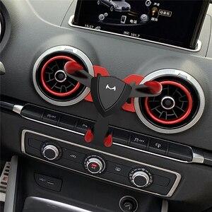 Image 1 - Araba hava firar çıkışı dağı standı klip telefonu tutucu Audi A1 A3 evrensel cep telefonu yerçekimi braketi iphone android