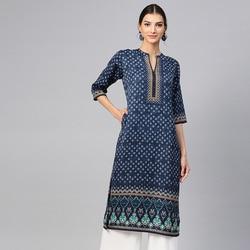 Indischen Ethnischen Blusen Indien Kleid für Frauen Kleidung Kurta Vestido Indiano Kurtha Lange Kurti Pakistanischen Bluse Baumwolle Stempel