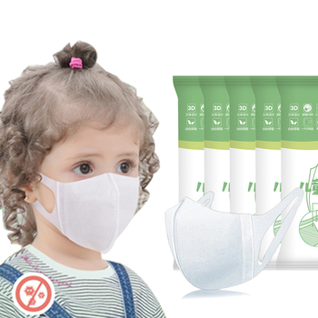 50Pcs 3D PM2.5 Face Mask Disposable Non wove 3 Layer Ply Filter Mask mouth Breathable Earloops Masks For Men Women Children Baby