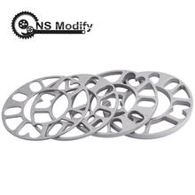 NS Modify Universal 3mm 5mm 8mm 10mm Aluminum Car Wheel Spacer Shims Plate Fit 4x100 4x114.3 5x100 5x108 5x114.3 5x120