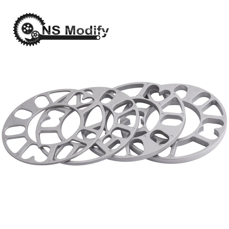 NS לשנות אוניברסלי 3mm 5mm 8mm 10mm אלומיניום רכב גלגל Spacer Shims צלחת Fit 4x100 4x114.3 5x100 5x108 5x114.3 5x120