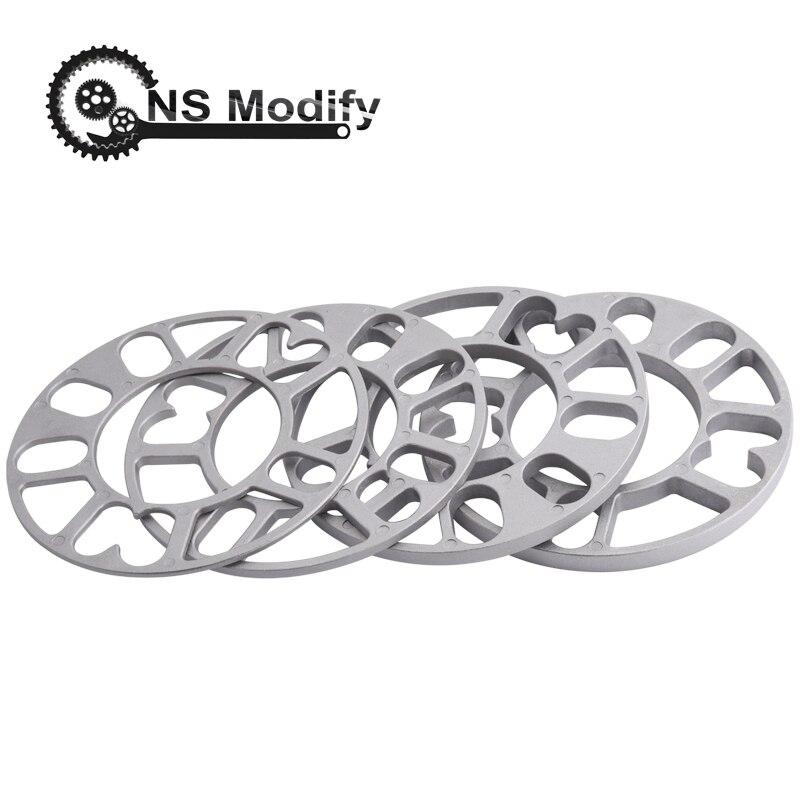 NS ปรับเปลี่ยน Universal 3 มม.5 มม.8 มม.10mm อลูมิเนียมรถล้อ Spacer Shims จาน 4x100 4x114.3 5x100 5x108 5x114.3 5x120