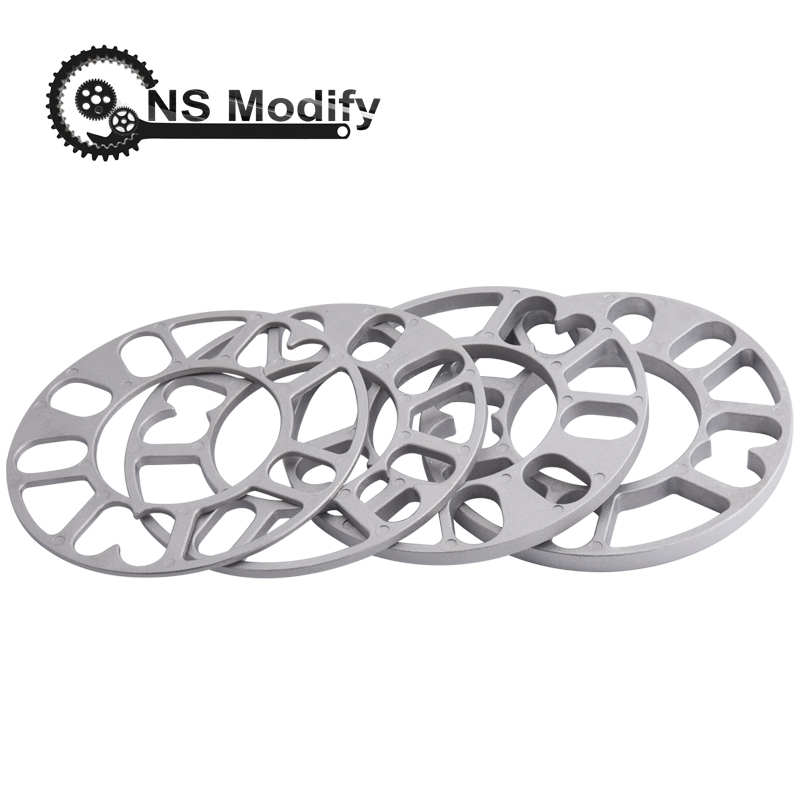NS Modify Universal 3mm 5mm 8mm 10mm Aluminum Car <font><b>Wheel</b></font> <font><b>Spacer</b></font> Shims Plate Fit 4x100 4x114.3 5x100 5x108 <font><b>5x114.3</b></font> 5x120 image