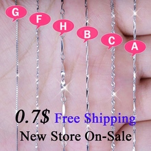 Silver Chain Necklace 925 Sterling Silver Lobster Clasp Long Necklaces for Women Fashion Necklace Chain Set Jewelry collares LZ1 недорого