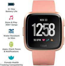Умные часы Fitbit Versa, персик/розовое золото, алюминий, один размер (S & L ремешки входят в комплект)