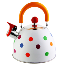 Water-Kettle Gas-Induction Stainless-Steel Folded-Handle Cute Color GS04102 Painting