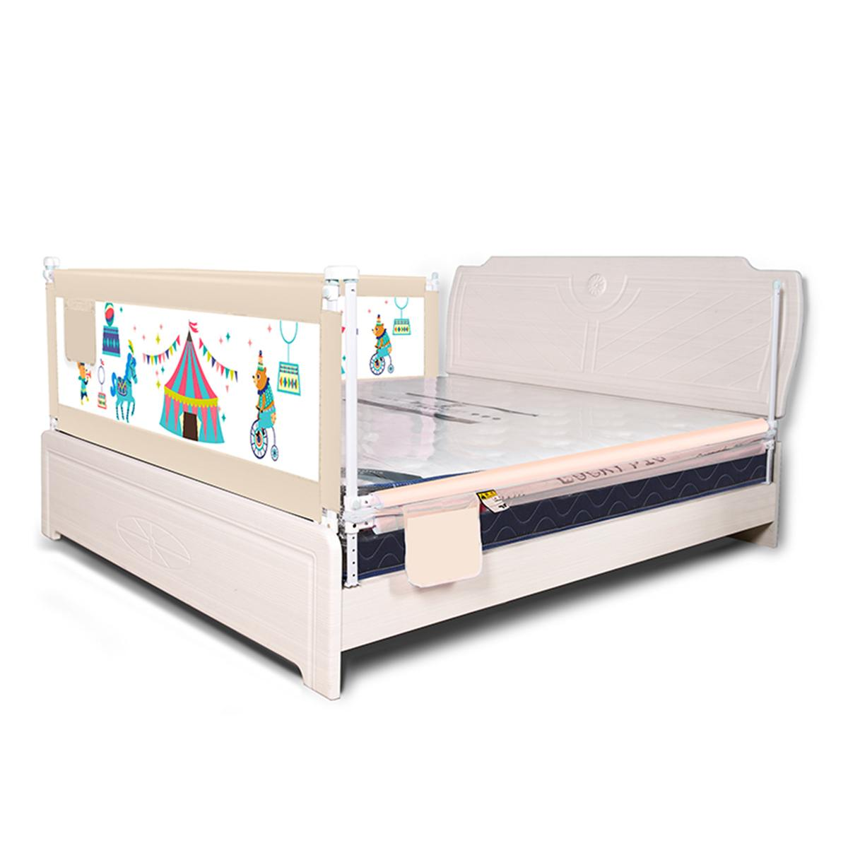 63 to 83 cm Height Adjustable Kid Bed Guard with Foldable Railing Sleep for Baby Safety from Falling from Bed 7