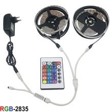 Led Strip Light 2835 SMD LED Tape 5M 10M 3528 Flexible Home mounted RGB lamp Tape+24key Controller+LED Ribbon DC12V Power Supply